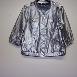 Monroe and Main silver jacket size womens xl